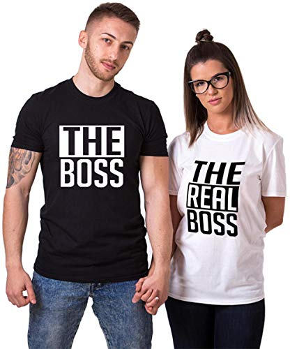 Matching Couple Shirts-The BOSS&The Real BOSS Shirts-His&Her Shirts -