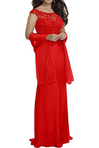 Braut Ballkleider Rot Langes mia Hochwertig Violett Abendkleider Bodenlang Meerjungfrau La Spitze Partykleider H85qZFwTx