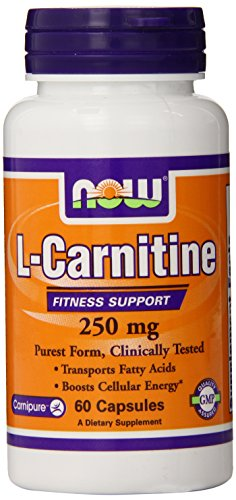 MAINTENANT les aliments L-carnitine 250mg, 60 Capsules
