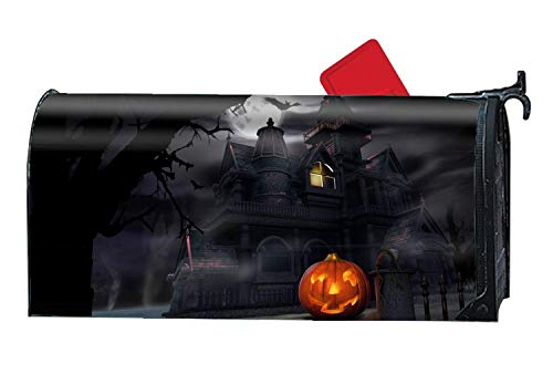 Bruyu5se Scary Halloween - Mailbox Makeover - Perfect Home Garden Gecor Magnetic Cover 21 x 18 Inches Waterproof Canvas Mailbox Cover]()