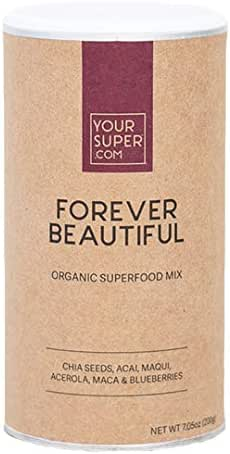 Forever Beautiful Superfood Mix by Your Super | Plant Based Anti-Aging & Skin Health | Produce Natural Collagen | Powder Fruit Blend with Essential Vitamins & Minerals | Non-GMO, Organic Ingredients