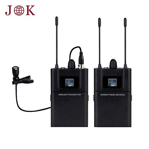 Professional JK MIC-J 086 UHF Wireless Microphone Filmmaker System For DSLR Cameras