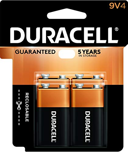 (Duracell - CopperTop 9V Alkaline Batteries - long lasting, all-purpose 9 Volt battery for household and business - 4 count)