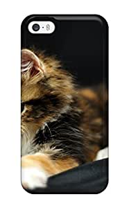 For Iphone 5/5s Tpu Phone Case Cover(black Kitty)