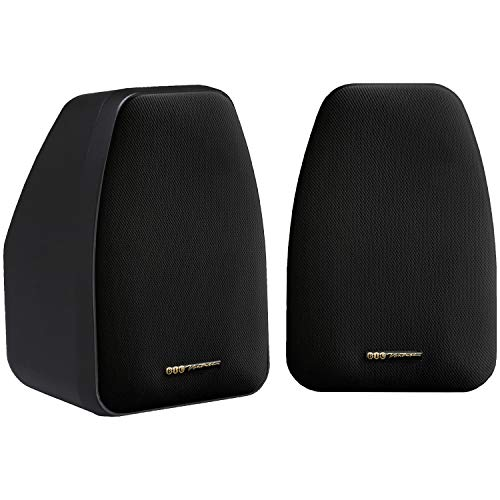 "Price comparison product image BIC AMERICA DV-32B 3 1 / 2"" 2-Way Compact Shielded Speakers - Black"