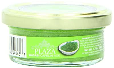 Plaza Premium Amazon Quality Capelin Caviar, Wasabi, 1.76 Ounce