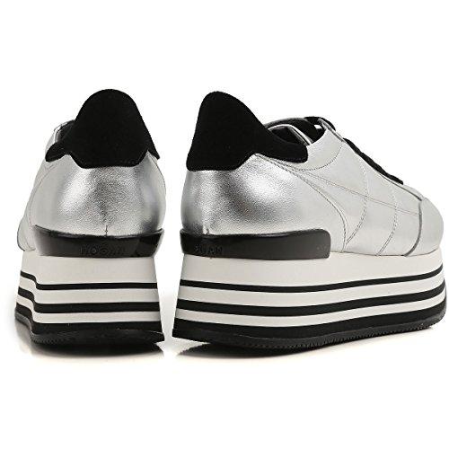 Metallizzata In Hogan Pelle Argento Gyw2830j0602m8 Sneakers H222 Maxi wXFqxPAZ