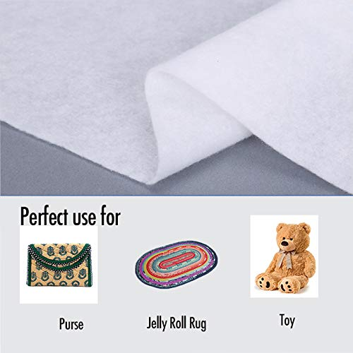 Zipcase On-A-Roll Upholstery Needle-Punched Cotton Batting for Jelly Roll Rugs Purses 2-1//4 inches by 50 Yards
