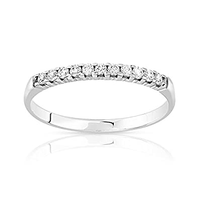 0b8785569c6 MATY - 0927074.T51 - Alliance or 375 blanc diamant - Taille 51 ...