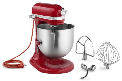 (KitchenAid KSM8990ER 8-Quart Commercial Countertop Mixer, 10-Speed, Gear-Driven, Empire Red)