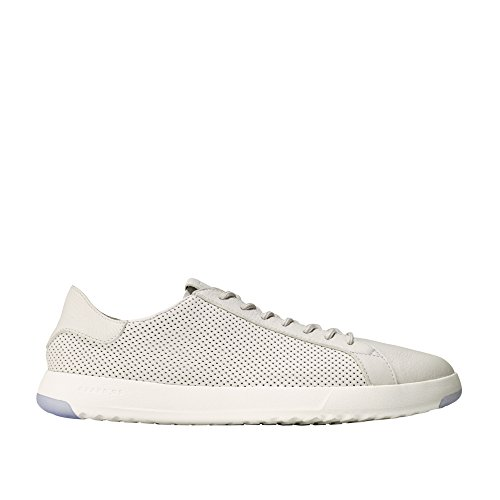 Cole Haan Men's Grandpro Tennis Sneaker 13 Chalk Tumbled Perforated Leather