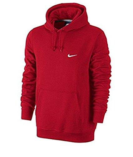 À shirt Sweat Club Nike Swoosh Rouge Capuche rosso Homme 7qvzIRn