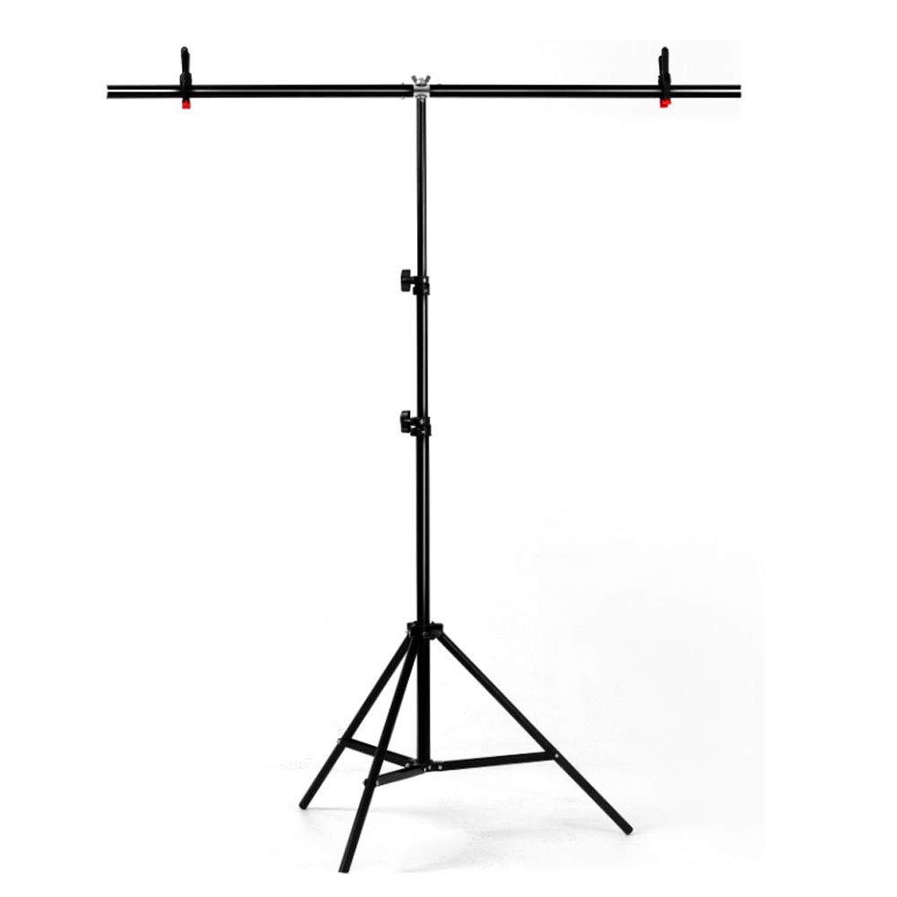 YUOCU Adjustable Portable T-Shape PVC Background Photography Backdrop Support Stand System Kit (Medium, 100cm x 200cm/39'' x 79'')
