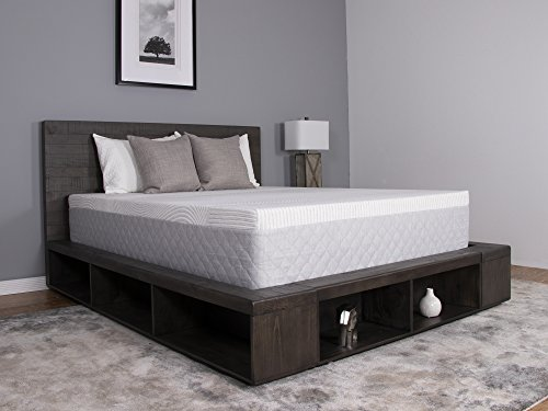 Dreamfoam iPedic Sojourn 12 Medium Comfort Gel Memory Foam Mattress, Queen, Made in The USA