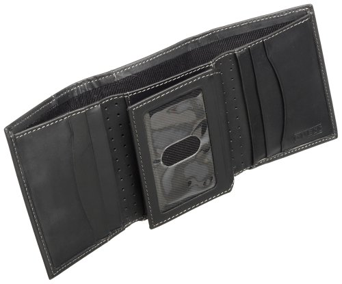 Guess Men's Credit Card Trifold, Black, One Size