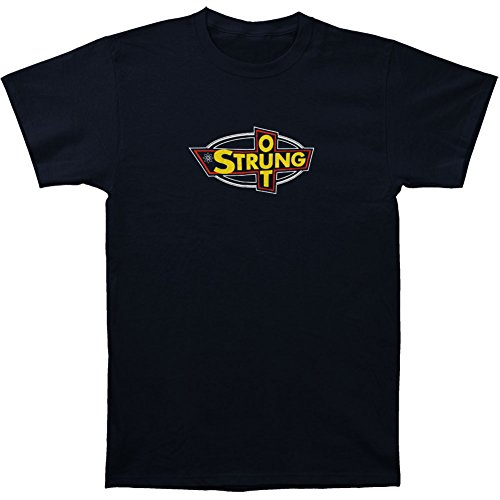 Rockabilia Strung Out Men's OG Logo T-Shirt Small Blue