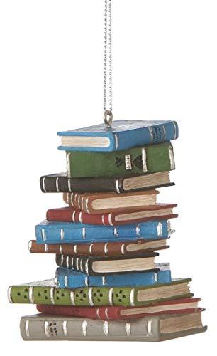 1 X School Book Stack - Ornament Lover