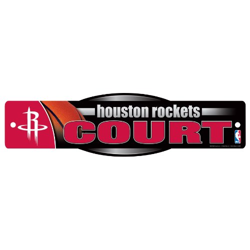 WinCraft NBA Houston Rockets Sign, 4.5 x 17-Inch by WinCraft