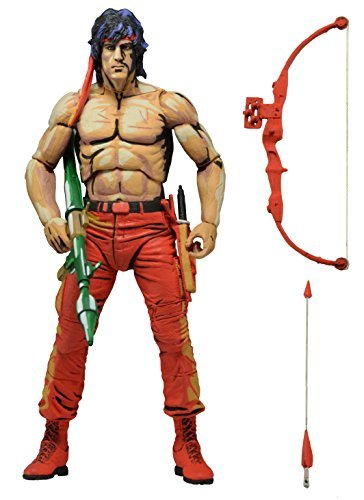 NECA 7-Inch Classic Video Game Appearance Rambo First Blood Part 2 Action Figure by NECA