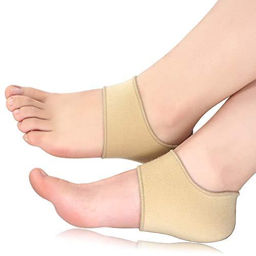 Beautulip Heel Sleeves for Cracked Heels, Heel Wraps for Plantar Fasciitis - Heel Protectors of Achilles Tendinitis, Heel Spurs for Women and Men 2 Pieces (Large (Womens 8-13, Mens 7-12)) ...