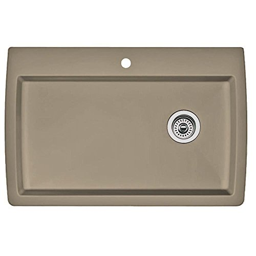 (Blanco 441287 Diamond Single-Basin Drop-In Granite Kitchen Sink, Truffle )