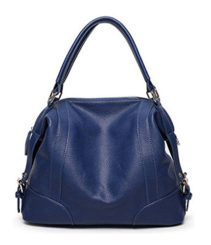 Summer Keshi Blue Tote Beach Deep Paglia Bag Classic Shoulder Sea Borsa Fashion PU nI7qUvIF