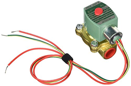 Asco Red Hat Solenoid Valve, 2 Way, NC, Brass, 1/2 In from Asco