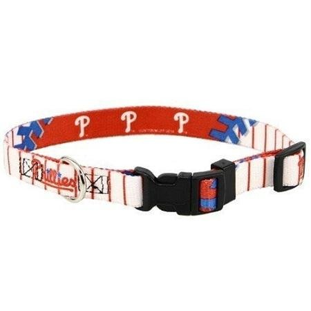 Hunter Mfg DN-310521-M Philadelphia Phillies Dog Collar - Medium