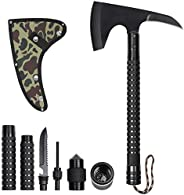 LIANTRAL Camping Axe, Survival Folding Multi-Tool Camping Hatchet with Nylon Sheath
