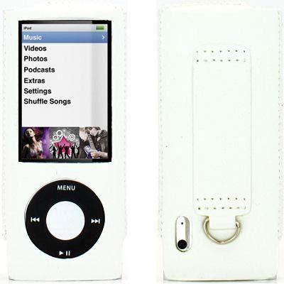 HD Accessory Slim Leather Case for 5th Generation iPod Nano 5G - White