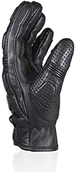 Guanti OMOLOGATI CE Estivi Pelle Darts Sunset Neri Black con Protezioni Rinfori Nocche Biker Moto Taglia M