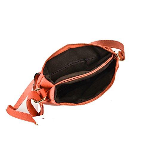 Epaule Sac Messenger pour Porté Rétro Cuir Petie Femme GLITZALL Bandoulière en Orange PU Sac Orange 1g1zqd
