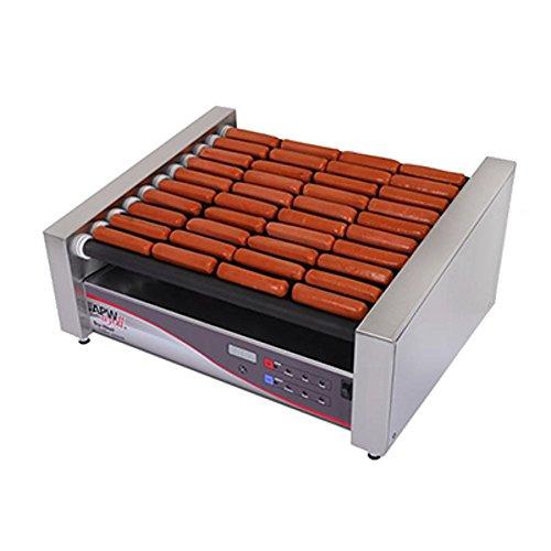 APW Wyott HRSDI-31S 460 Hot Dog (Per Hour) Capacity (10) Slanted Tru-Turn Rollers XPERT HotRod Hot Dog Grill