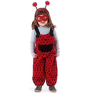 Carnival Toys 80972–Mariquita, para Mujer Disfraz con máscara y Pelo Maduro