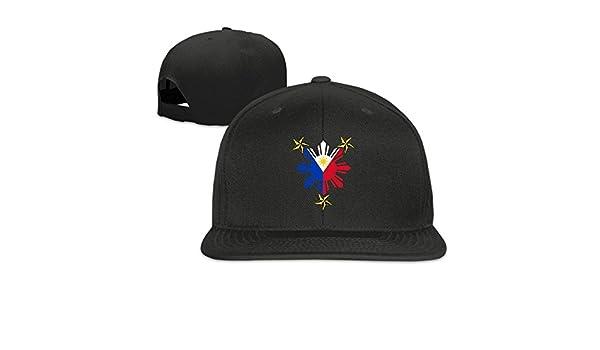 Amazon.com   Asfbau Bnjazzp Philippine Flag Sun With Nautical Star Unisex  Baseball Caps Adjustable Flat Bill Snapback   Sports   Outdoors e92884046046