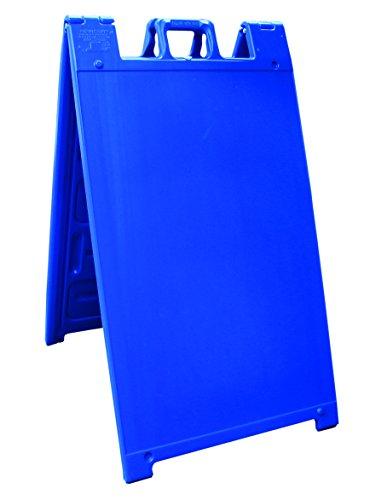 """Plasticade Signicade Curb Sign / A-Frame 24x36"""" Color:Blue"""