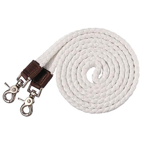 Snap Draw Reins - Lotus Energy 7 Feet Leathery Cotton Harness Nylon Horse Cordage Rope Draw Rein