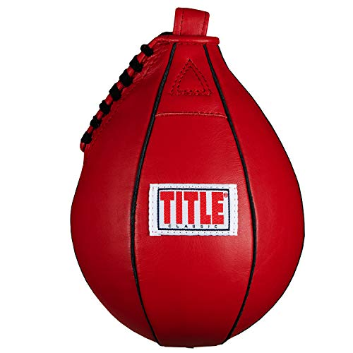 Title Classic Speed Bag, Red, 5