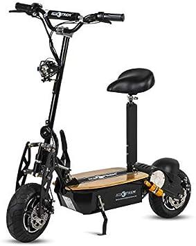 ECOXTREM Patinete, Scooter Tipo Moto Eléctrico, Plegable, con Sillin Desmontable, Luz Foco y luz LED de Freno. Ideal para desplazamientos urbanos. Motores 1600W y 2000W.