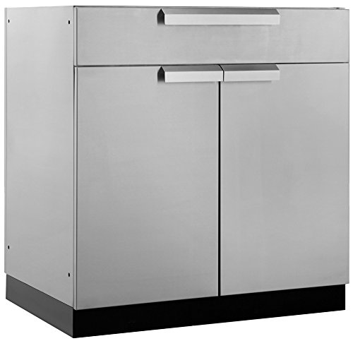 NewAge Products Inc. 65003 Outdoor Kitchen Storage, bar Cabinet, Stainless Steel