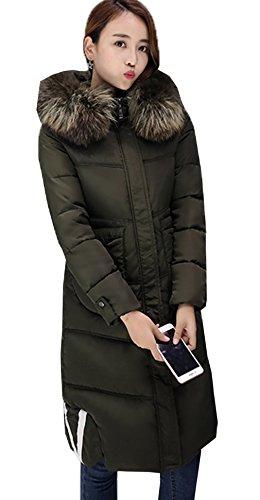 Ricoprono Palla Spesse Pesce Signore Donne Delle Giù Autunno Esercito Verde Outwear Coreano Bigood Lunghe Delle Inverno vwTBx4q7