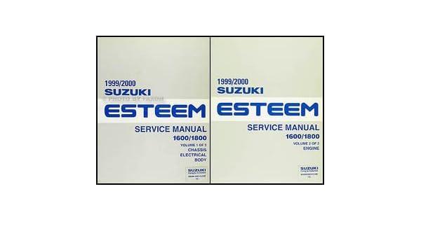 1999 2000 suzuki esteem repair shop manual set original suzuki rh amazon com 2002 Suzuki Esteem Parts 2002 Suzuki Esteem Parts