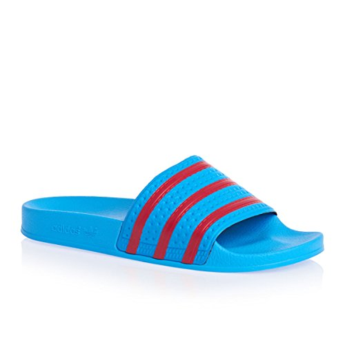 adidas Adilette, Men's Beach & Pool Shoes blue - red