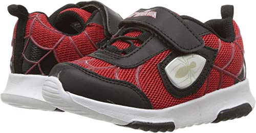 Spiderman Athletic Shoes with Premium Lights (Toddler/LittleKid) Red (9.5 M US Toddler)]()