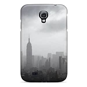 Awesome IFzNTib6973TKntF Saraumes Defender Tpu Hard Case Cover For Galaxy S4- New York City Under Curtain Of Fog by runtopwell