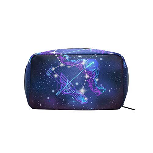 (Constellation Zodiac Sign Sagittarius Makeup Case Cosmetic Bag)