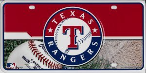 MLB Texas Rangers Metal Auto Tag ()