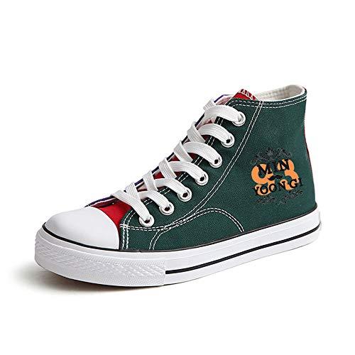 Bts Ayuda Alta Green37 Ocasionales Zapatos Con De Cordones Lona Popular Pareja Fashion Transpirables rpr7HqW