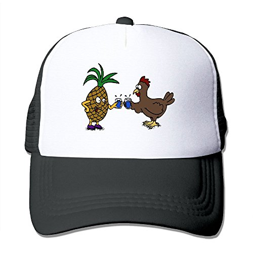 Uzhongquux Pineapple And Chicken Summer Mesh Cap With Adjustable Snapback Strap - Stores Gurnee In