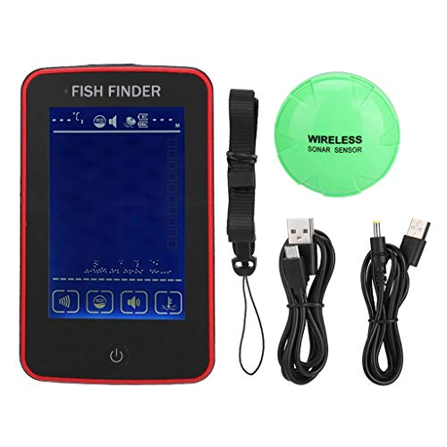 Maikouhai Freshwater Fish Finder Sensor Transducer Saltwater Electric Boat Find Fishing Depth Location with Colored LCD Display